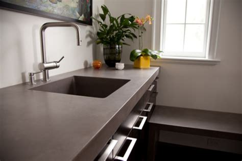 Concrete Countertop  Contemporary  Kitchen Countertops