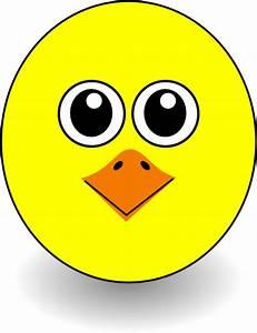 Funny Chick Face Cartoon Clip Art at Clker.com - vector ...