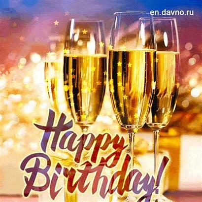 Birthday Celebration Gifs Champagne Happy Animated Davno