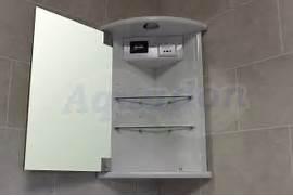 Mirror Bathroom Cabinet With Shaver Socket by Bathroom Mirror Corner Illuminated Cabinet White Shaving Socket Clock BCRO