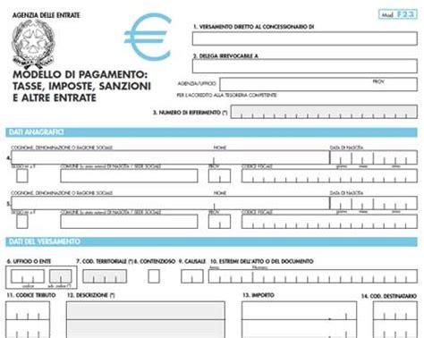 Ufficio O Ente F23 - modello f23 compilabile editabile