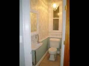 Small half bathroom ideas - YouTube
