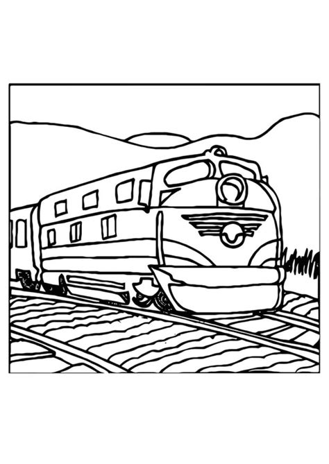 coloring page train img