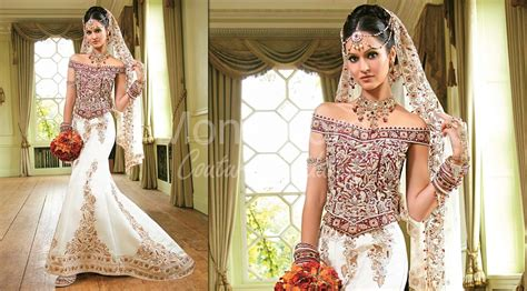 Wedding Dresses Indian : Indian Bridal Wear Fusion Gowns Traditional Indian
