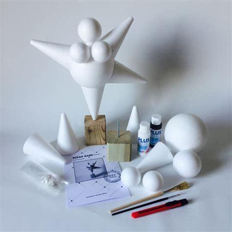 diy pakket dikke dame staand model diy papier klei