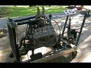 Ford Flathead Hot Rod Motor Running Wild