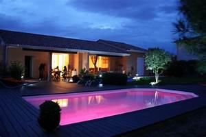 Eclairage Terrasse Piscine : eclairage piscine spots leds tanches au nord de la france ~ Preciouscoupons.com Idées de Décoration