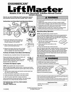 Liftmaster Security Garage Door Opener Manual