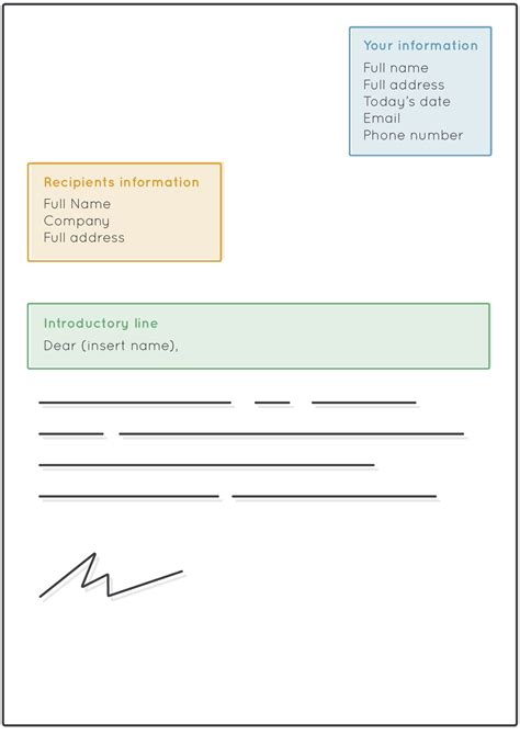 write  formal letter format template uk postbox