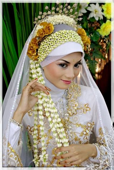ide jilbab pengantin tutorial hijab