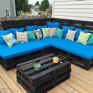 Couch Aus Paletten : hier eine coole idee eine couch und einen couchtisch aus paletten zu machen einfach nur cool ~ Whattoseeinmadrid.com Haus und Dekorationen