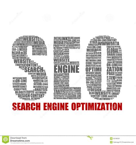 seo words seo words collage stock illustration image 50186591