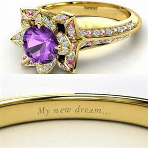 beautiful engagement rings inspired by disney princesses With rapunzel wedding ring