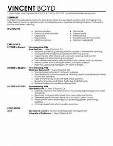 best housekeeping aide resume example livecareer With hospitality resume builder
