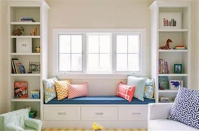 Window Bedroom Seat Built Bookshelves Storage Seats