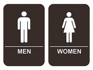 men women39s bathroom sign set ada compliant tactile braille With men and women bathroom symbols