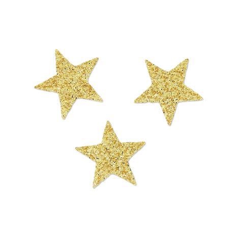 Iron-on badges Miniatures Mme Mlle 14mm star gold x30 ...