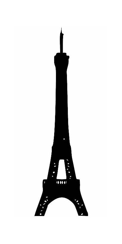Eiffel Tower Clip Transparent Silhouette Paris Clipart