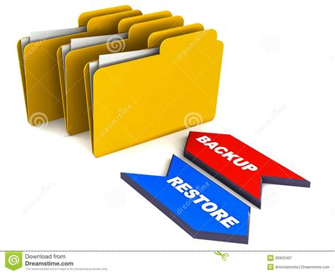 Data Backup Restore Stock Illustration. Illustration Of