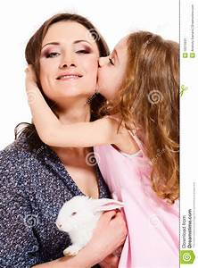 Child Kissing Mother Stock Image  Image Of Cute  Close