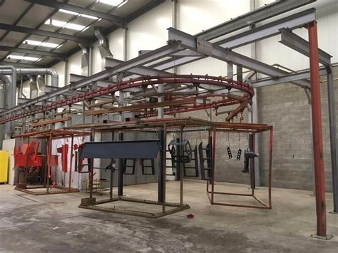 caldan roller system wet paint conveyor