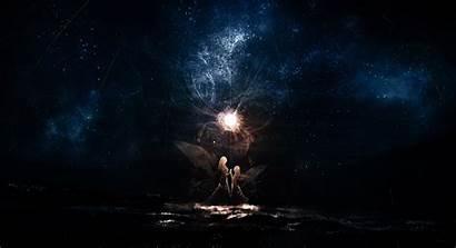 Anime Dark Magic Stars Pixiv Reflection Wallpapers