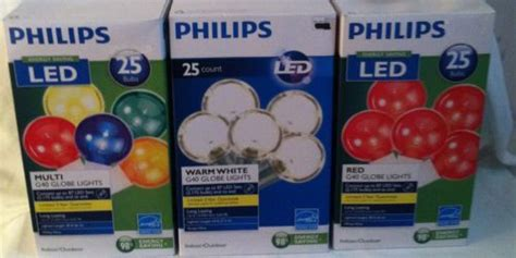 philips led g40 string globe lights multi clear rv