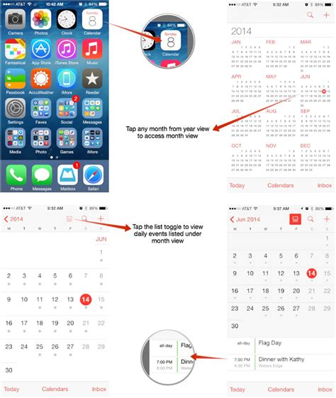 how to calendar on iphone how to switch calendar views on your iphone or imore