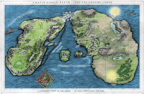 A map of Middle Earth as you've never seen it before - A ...
