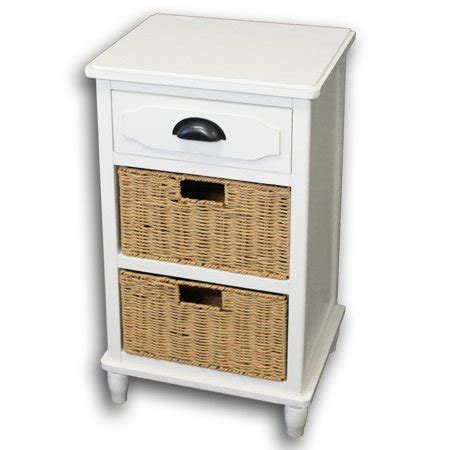 Nightstand With Baskets by Designs 3 Drawer Stand With Wicker