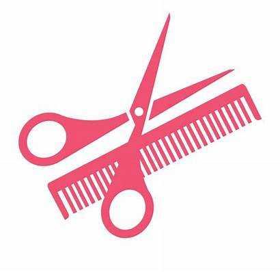 Scissors Comb Hairdressing Clipart Clip Webstockreview Transprent