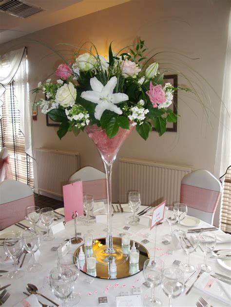 flower table decorations for weddings martini glass wedding table decorations google search