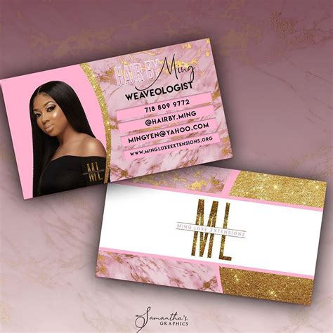 samanthasgraphics llc  instagram business card design