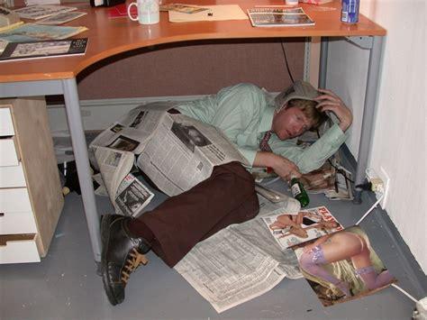 Packard Jennings Sleeps Under His Desk
