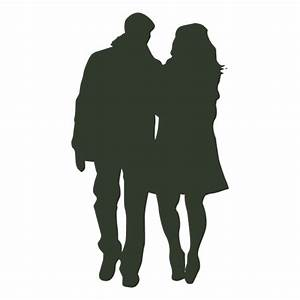 Couple walking silhouette winter - Transparent PNG & SVG ...