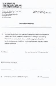 Einverständniserklärung Foto : einverst ndniserkl rung kartellrecht verband der b rsten und pinselhersteller ~ Themetempest.com Abrechnung
