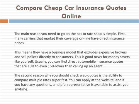 Compare Auto Insurance Quotes Car Insurance Comparison