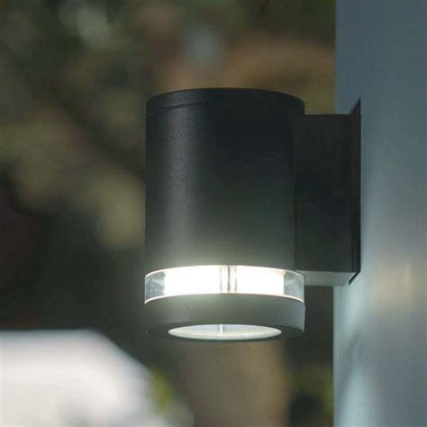 lutec lighting focus 6047 graphite up and wall light