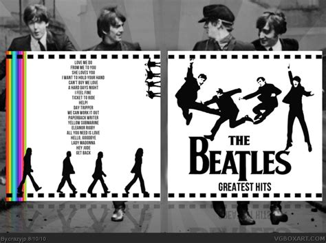 The Beatles Greatest Hits Music Box Art Cover By Crazyjp