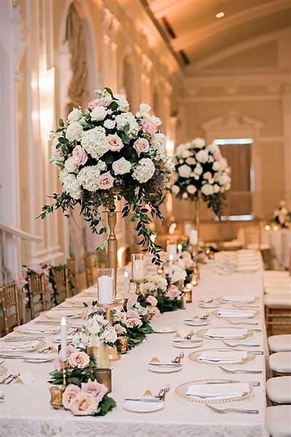 Rose Gold Decorations Flowers Vases Colour Venues