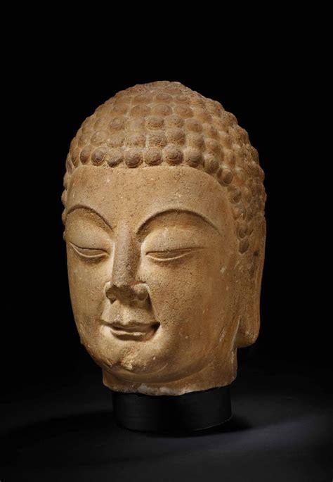 tete de bouddha et importante tete de bouddha shakyamuni en marbre chine dynastie sui 581 618 christie s