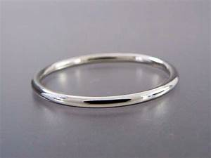 Thin Platinum Wedding Band 13mm Wide Stacking Ring Choice