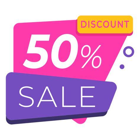 50 discount label colorful - Transparent PNG & SVG vector file