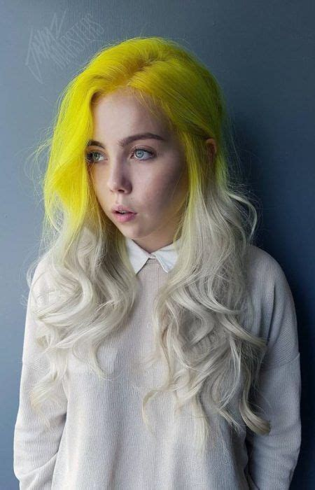 Black And Yellow Hair Color by Best 25 Yellow Hair Ideas On Yellow Hair Dye
