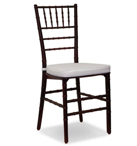 mahogany chiavari chair for rent in miami broward palm