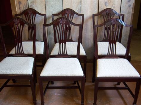 mahogany dining chairs hepplewhite sheraton style set