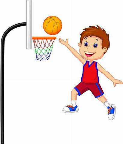 Basketball Clipart Shoot Clip Boy Player Child