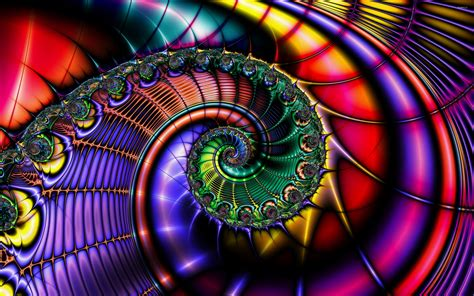 colorful fractal shell wallpaper abstract wallpapers