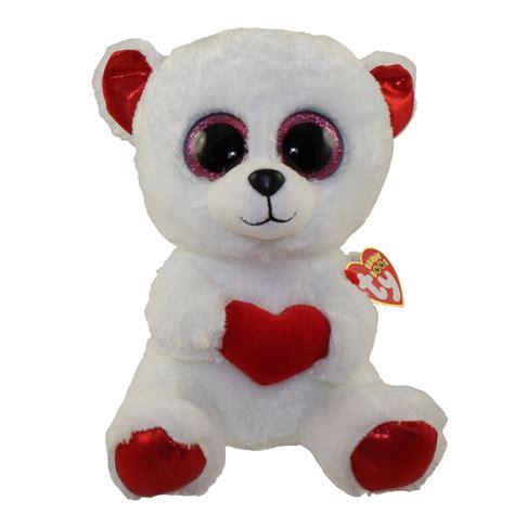 ty beanie boos cuddly bear glitter eyes medium size