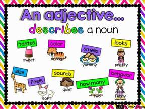 Adjectives Charts with Pictures